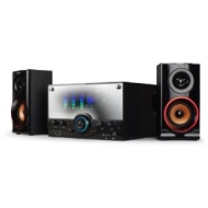 35W RMS 2.1 Channel KARAOKE PARTY Wooden Speaker Home Hifi System Compatible with Any 3.5mm Audio Line-in Device USB Flash Drive SD Memory Card Deskto