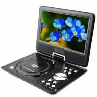 270 degree Swivel Portable DVD Player LCD Screen Display Game USB TV SD SWIVEL & Flip VAG CD VCD MP3 MP4 USB Home Theater by Bravolink (9.5 inch (NS96
