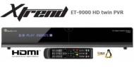 Clarke-Tech ET 9000 HDTV Linux Twin PVR Receiver ohne Festplatte