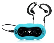 Pyle PSWP20BL Surf Sound Waterproof MP3 Player with Headphones (Blue)