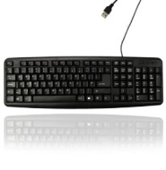 USB Keyboard Wired Slim Stylish Qwerty Keyboard UK EU Layout For PC Laptop Computer 1030