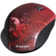Verbatim 97784 Wireless Optical Design Mouse -Red