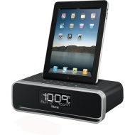 iHome Dual Charging FM Clock Radio and Lightning dock for iPod/iPad/iPhone - Black