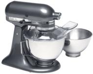 KitchenAid KSM110PS Custom 300-Watt 4-1/2-Quart Stand Mixer, Black Chrome
