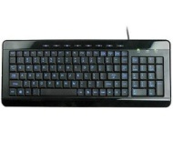 Anyware Computers Full Size Multimedia USB Lighted Keyboard w/ Backlit Blue LEDs