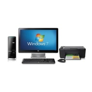 "HP Pavilion Slimline s5206uk-p with 20"" HP monitor"