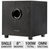 Pioneer SW-8MK2 Andrew Jones Designed 100-Watt Powered Subwoofer