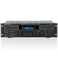 Technical Pro RXB113 Receiver, Integrated 1500 Watt Amplifier with Dual 10 Band Equalizer, Black