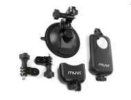 Veho VCC-A020-USM Short based Universal Suction Mount for MUVI HD with two MUVI HD holders
