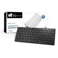 EC TECHNOLOGY® Super Slim Mini Bluetooth 3.0 Wireless Keyboard for iPad 1 2 3 4 Mini, iPhone 5S 5C 5, iPhone 4S 4, PC, Notebook, Smartphone with Andro