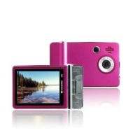 XO Vision Ematic 2.4 Inches Color MP3 Video Player with Built-in 5MP Digital Camera and Video Recording, FM Radio, TV Out, Speaker 4 GB PINK