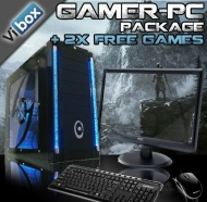 "VIBOX Standard Package 3 - Cheap, Home, Office, Family, Gaming PC, Multimedia, Desktop, PC, Computer, Full Package with 19"" Monitor, Speakers, Keyboar"