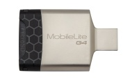 Kingston MobileLite G4 USB 3.0 Zwart, Grijs geheugenkaartlezer