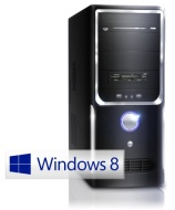Silent office PC! CSL Sprint 5231uW8 (Dual) incl. Windows 8.1 - dual core computer system with AMD Athlon A4-4000 APU 2x 3000 MHz, 500GB HDD, 4GB DDR3