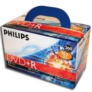 Philips DM4SDR4S6U02C/17 DVD+R - 200 Pack, 16X,Box
