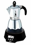 Bialetti Easy Timer elektrischer Espressokocher für 6 Tassen / Alu
