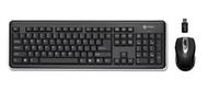Buslink RF-6572A I-ROCKS RF 2.4GHz Wireless Keyboard with 5 Button Optical Mouse (Black)