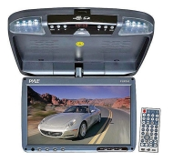 Pyle 9 inch Flip Down Monitor and DVD player w/ Wireless FM Modulator IR Transmitter