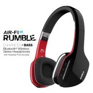 MEElectronics Air-Fi Rumble Enhanced-Bass Bluetooth Wireless Stereo Headphones with Headset Functionality