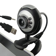 HDE 6-LED Round Night Vision Webcam with Built in Microphone Supports Windows 2000/XP/Vista/7/8