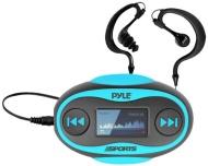 Pyle PSWP25BL 4GB Waterproof MP3 Player/FM Radio with Waterproof Headphones (Blue)