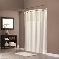 Hookless Fabric Shower Curtain - Beige