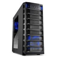 Sharkoon Rex 8 Value - Caja para torre Midi (ATX, 4x 5,25 externos, 4x 2,5/3,5/5,25 internos, 2 puertos USB 3.0) negro