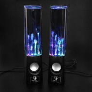 Amzdeal USB Water Dancing Speakers / Destop Speakers for PC, Mac, MP3 Players, Mobile Phones, iPhone & Tablets, Black