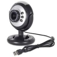Fosmon Distributing, LLC Fosmon 12.0 Megapixel USB 6 LED PC Webcam Camera plus + Night Vision AIM, Skype, Net Meeting, 21001WEB
