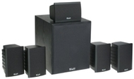 """KLH SS02-HTIB 100W 6-Piece Home Theater Speaker System with 8"""" 120W Front Firing Subwoofer"""