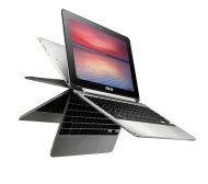 "ASUS C100PA 10.1"" Chromebook Flip - Silver"
