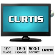 "Curtis LEDVD1975A 19"" LED TV/DVD Combo - 720p, 1366 X 768, 16:9, 500:1, HDMI (Refurbished)- RB-LEDVD1975A  RB-LEDVD1975A"