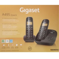 Siemens Gigaset A495-2 Digital Cordless Phone with Digital Answering Machine with 2 Handsets