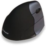 Evoluent Wireless Vertical Ergonomic Mouse 3 - Right Hand - Silver/Black