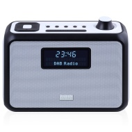 August MB400 - DAB/DAB+ Radio with NFC Bluetooth Wireless Speaker, Alarm Clock and FM Tuner - Portable Radio and MP3 Player: SD Card Reader / 3.5mm Au