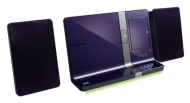 JVC CD Micro HiFi Speaker System with Dock for iPad, iPhone and iPod - Violet
