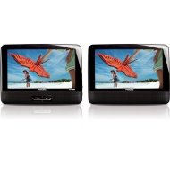 "Philips Portable DVD Player PD9012 22.9 cm (9"") LCD Dual screens"