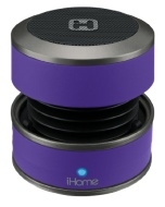 iHome IBT60UY Bluetooth Mini Speaker System (Purple)