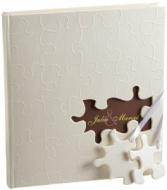 """Walther GB-173 Gästebuch """"Puzzle"""", Format 23 x 25 cm, 144 weiße Seiten, mit Ausschnitt für persönlichen Namen"""