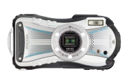 "Ricoh WG-20 Fotocamera, Sensore da 14,48 Megapixel, Zoom Ottico 5x, Impermeabile Fino a 10m, Display LCD da 2.7"", Video HD, Bianco"