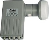 Fuba DEK 400 Quattro Universal LNB mit 40 mm Feedhorn und Wetterschutzgehäuse zum Schutz der F-Stecker grau