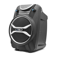 Pyle Boom Rock PWMAB210BK Bluetooth Karaoke Speaker Recording System, Rechargeable Battery, Wireless Mic, USB/SD Readers