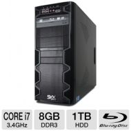 Systemax SYX SG-125 Gaming PC - Intel Core i7 2600 3.4 GHz, Genuine Windows 7 Professional 64 Bit, 1GB NVIDIA GeForce GTX 550 Ti, 8GB DDR3, 1TB 7200rp