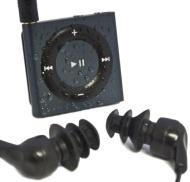 Waterfi Waterproof/Shockproof iPod Shuffle Swim Kit with Waterproof Headphones (Slate)