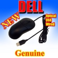 Dell Black Deluxe USB Optical Scroll Mouse XN966