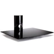 Duronic DS103BS Meuble mural en verre couleur noire à trois étages pour écrans de TV LCD/Plasma/LED, lecteur DVD / Blu-ray, amplificateur, box TV