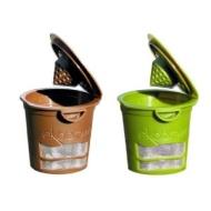 Ekobrew Cup,Refillable K-Cup For Keurig K-Cup Brewers 2-Pack - BROWN $ GREEN