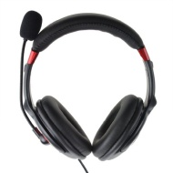 Ktz Stereo USB Computer Laptop Headphone Headset with Microphone Music Palyer Volume + - Mute Control for LifeChat Skype VOIP MSN Chatting