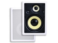 Monoprice 8 Inches Kevlar In-Ceiling Speakers (Pair) - w/ 15 Degree Angled Woofer