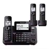 Panasonic KX-TG9546B 2 Line DECT 6.0 Plus 1.9GHz Wall Mountable 6 Expandable Corded And Cordless Han